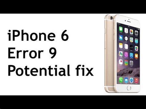 iphone error 4005 iphone 6 error 9 14 solutions