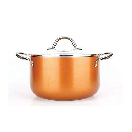 copper   pan  piece luxury induction cookware set