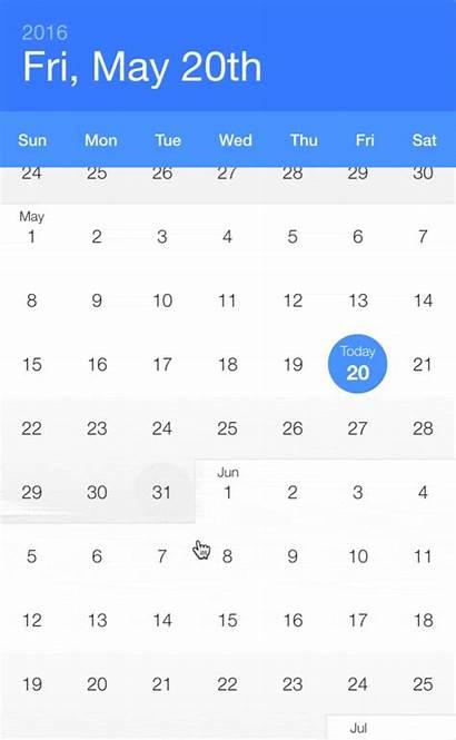 Calendar React Infinite Native Date Picker Components