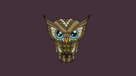 Animal Illustration Wallpaper - owl illustration minimal desktop wallpaper