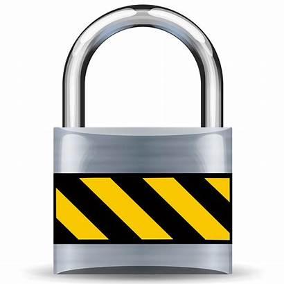 Secure Silver Padlock Medium Clipart
