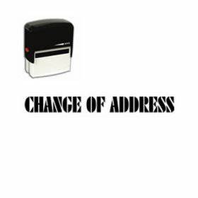 Self inking change of address stamp shipping stamps for Change of address stamp