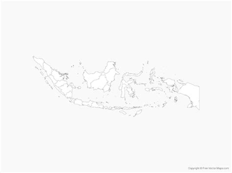 vector map  indonesia  provinces outline