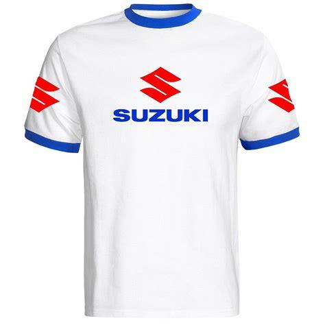 t shirt suzuki suzuki motorbike motorcycle t shirt white blue mens