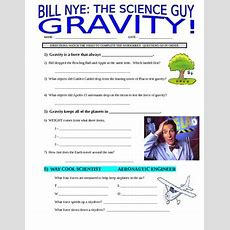 Bill Nye The Science Guy  Gravity (forces & Motion Video Worksheet