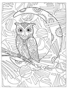 Creative Haven Owls Coloring Book by Marjorie Sarnat