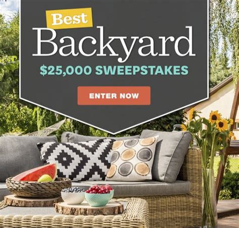 better homes and gardens best backyard sweepstakes
