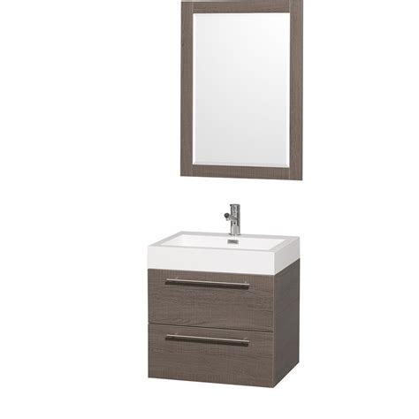 24 inch bathroom vanity with sink amare 24 quot wall mounted bathroom vanity set with integrated