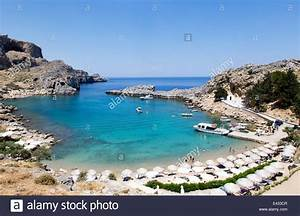 St  Pauls Bay Lindos Rhodes Greece Stock Photo  71368663