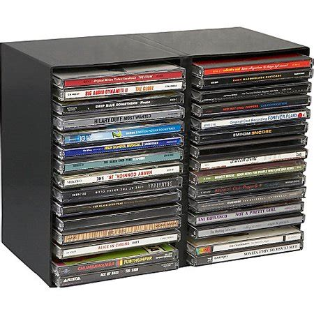 cd rack walmart logic 30 capacity plastic cd tray walmart