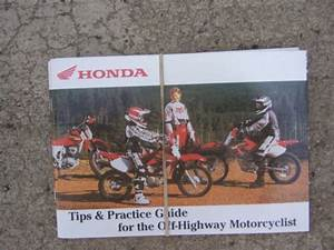 2000 Honda Off Highway Motorcycle Riding Tips Practice