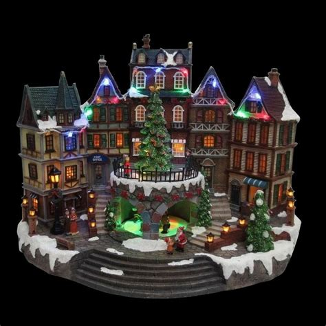 animated holiday downtown village house musical