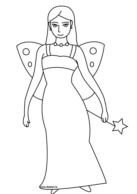 coloring fairy
