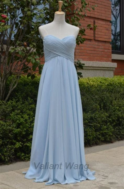 light grey bridesmaid dresses long light grey blue chiffon sweethearts bridesmaid dress long