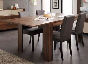 Table Extensible Salle Manger Salvador Noyer Pas Cher