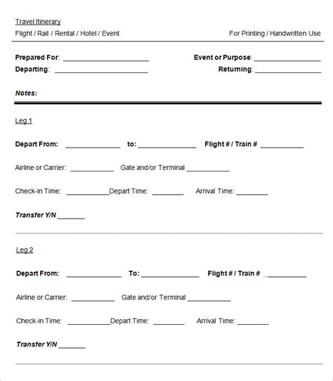 Travel Itinerary Templates For Pages by Itinerary Template Pages Muco Tadkanews Co