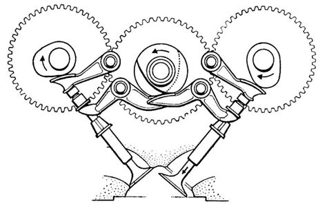 Cross Section Of Ducati's Original Triple-cam Desmodromic
