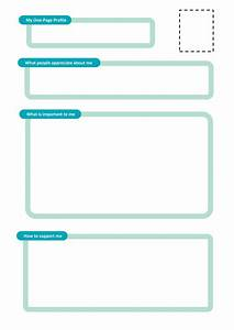 one page profile templates helen sanderson associates With communication profile template