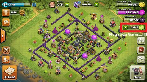 free gems clash of clans android clash of clans gems negative balance in android phones
