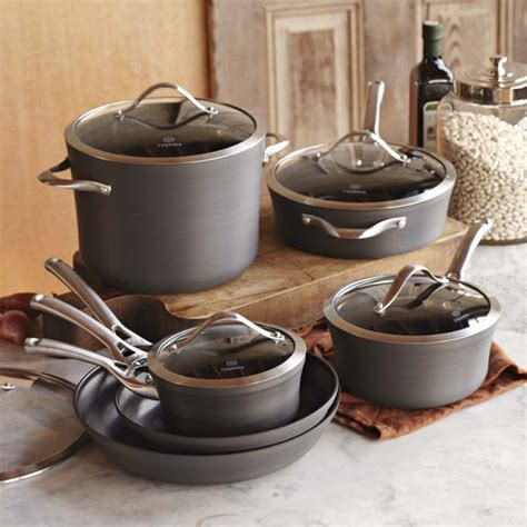 calphalon contemporary nonstick  piece cookware set williams sonoma