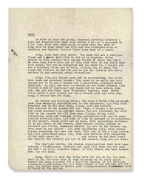 uncensored letter  mlk reveals   york