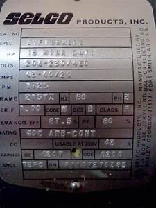 Electrical   Selco 15 Hp Motor 37f169x506 859332