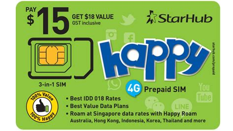 happy prepaid sim cards starhub mobile