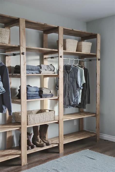 building a closet white industrial style wood slat closet system with