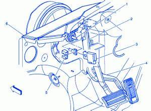 Chevrolet K1500 2008 Pedal Electrical Circuit Wiring