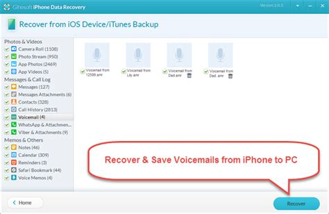 save voicemail iphone how to save recover voicemails from iphone to computer