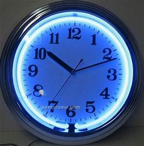 Blue Neon Wall Clock China Wholesale Blue Neon Wall Clock