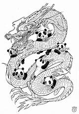 Panda Coloring Outline Mandala Adult Pandas Mandalas Colouring Dragon Dragons Vorlagen Zentangle Erwachsene Adults Ausmalbilder Bear Printable Mythical Drawing Colorear sketch template