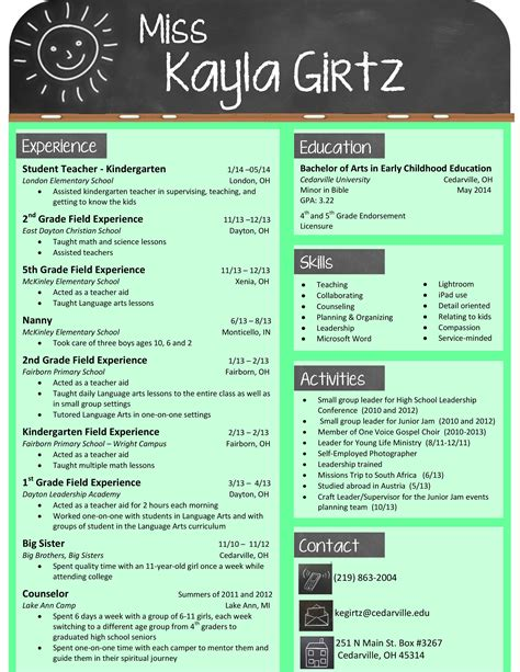 my design for an elementary resume buy the