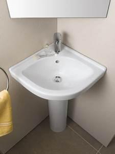 Lavabo D Angle Salle De Bain : lavabos d 39 angle de salle de bain fiche produit ~ Nature-et-papiers.com Idées de Décoration