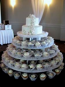 2 Tiered Wedding Cake + Cupcakes + Mini Cakes