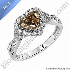 on sale fancy brown heart diamond halo engagement ring With diamond wedding rings on sale