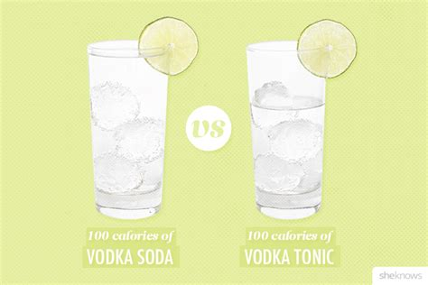 vodka tonic calories what 100 calories of your favorite bar drink looks like