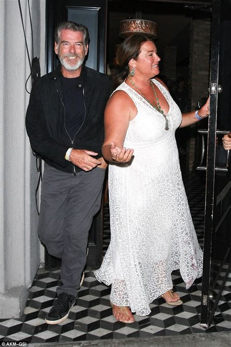 wedding earrings chandelier brosnan enjoys date with keely at sting