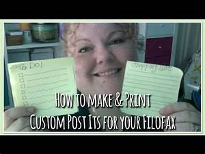 how to make print your own custom post its for your With how to print on post its