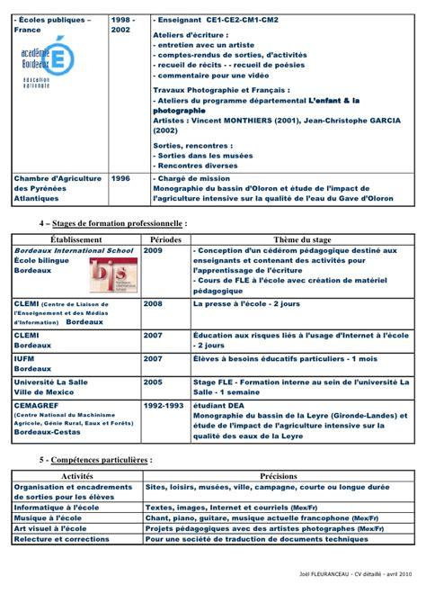 Des Cv Professionnel by Jf Cv 6p Avril2010 Promo F