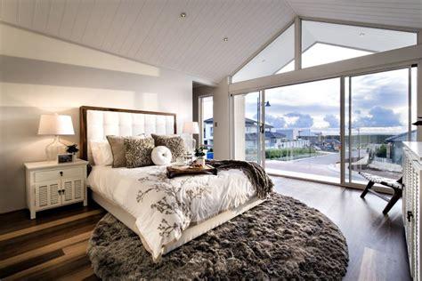 tapis rond chambre chambre à coucher contemporaine 55 designs élégants