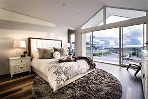 Grand Tapis Chambre : chambre coucher contemporaine 55 designs l gants ~ Teatrodelosmanantiales.com Idées de Décoration