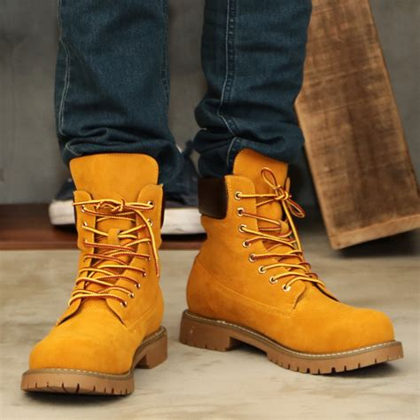 Jiggys Shop Boots Men Yellow Roshell Rochelle