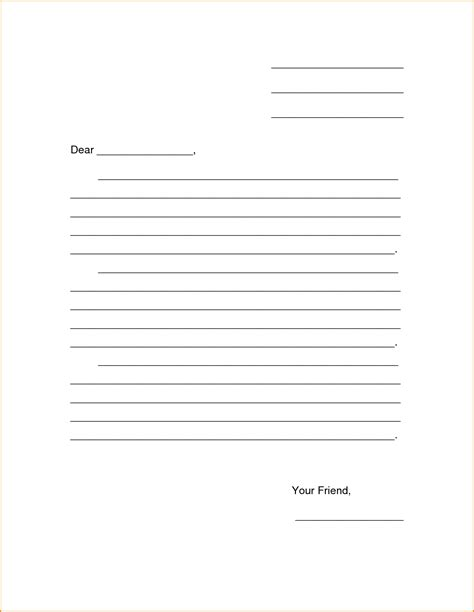blank letter 9 friendly letter format printable invoice template