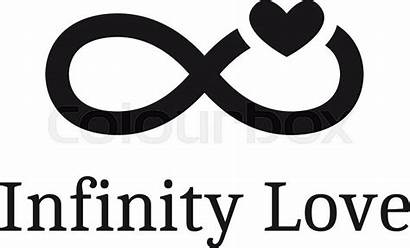 Heart Vector Infinity Sign Trendy Modern Clipart