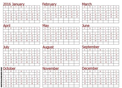 calendar template full year cute 2016 full year calendar search results for full size