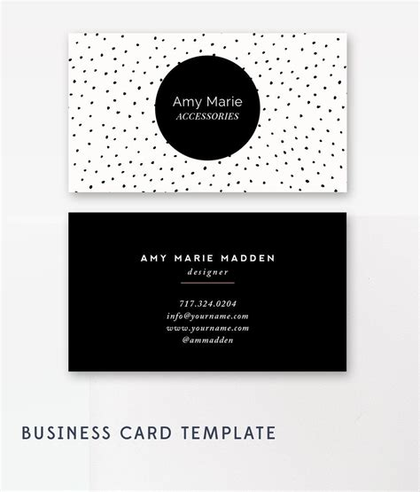 Business Card Template Photoshop Business Card Template Photoshop Templates Polka Dot