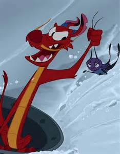 Disney Mulan Mushu and Cricket