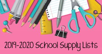 school supply lists lance thompson elementary school