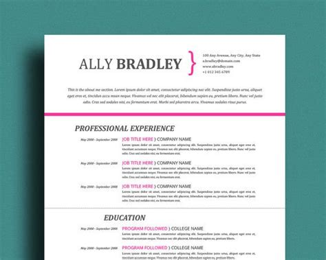 Resume Writing Templates Word by Resume Template With Cover Letter References Page Easy
